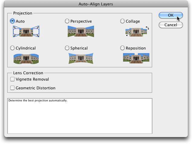 The Auto-Align Dialog Box