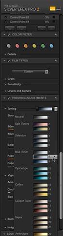 "Selecting the ""Toner 8"" toning preset"