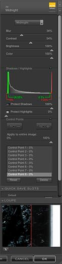 Color Efex Pro 3.0, Midnight Filter Settings