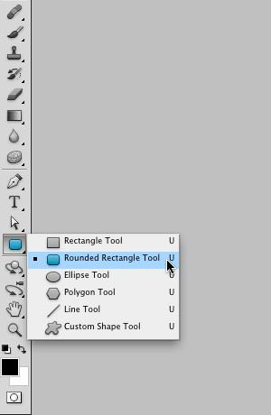 Selecting Rounded Rectangle Shape tool