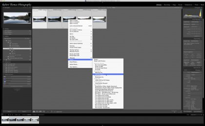 Selecting Panoramas in Lightroom for HDR Processing