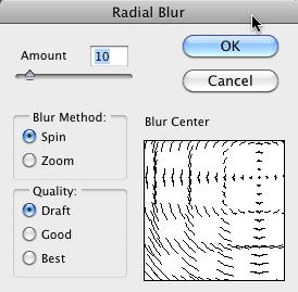 Radial Blur Filter with Spin Settings