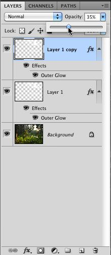 Changing the Opacity of the Jumped Layer