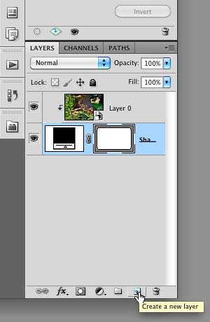 """Selecting the """"Create a new layer"""" icon"""