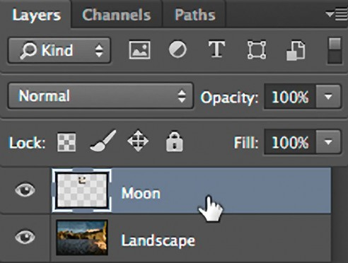Double-click the layer to open the layer styles dialog box