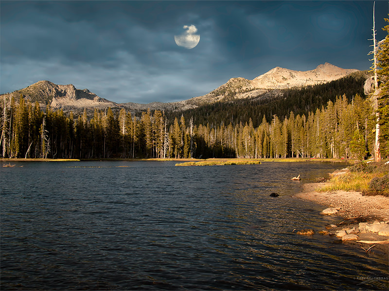 Luminance Blending - Landscape with moon