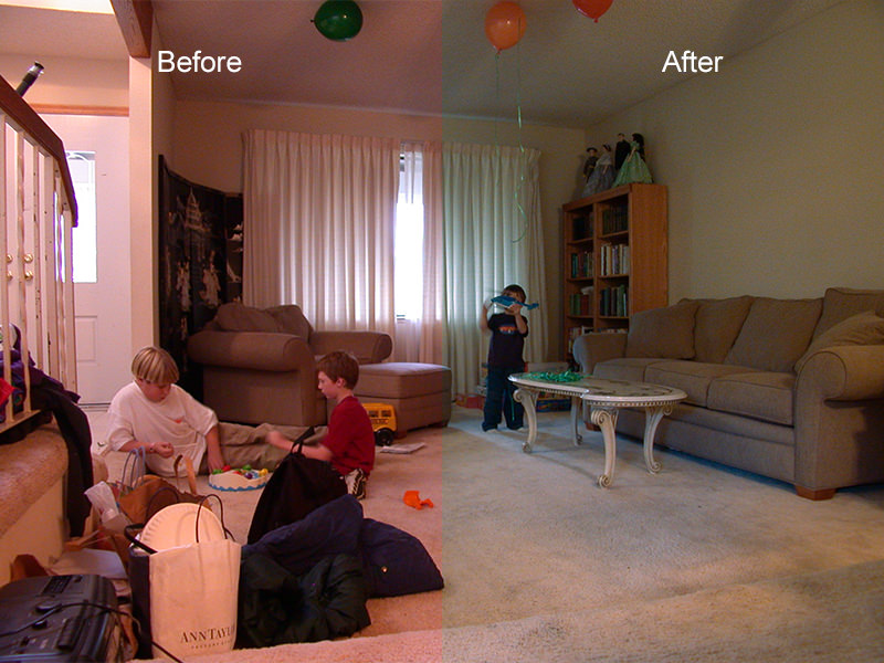 Accurate White Balance - Before and After